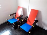"""Rietveld """"zig-zag"""" chairs"""