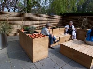 """newly built """"roof-top"""" garden"""